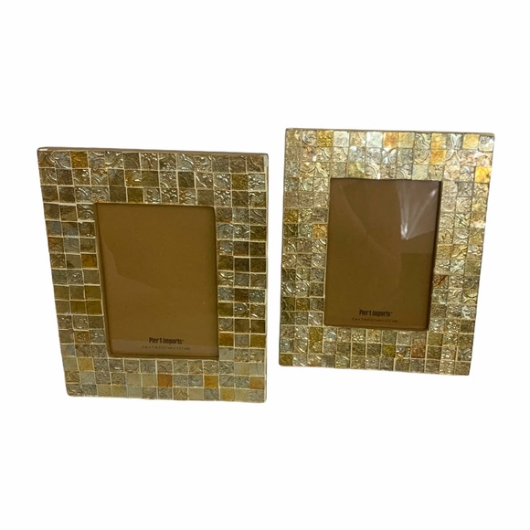 Pier 1 Other - Pier 1 Gold Mosaic Picture Frames